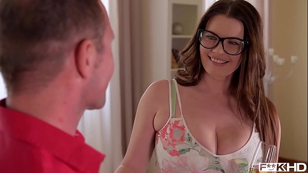 Busty Secretary in Glasses Rides a Hard Cock
