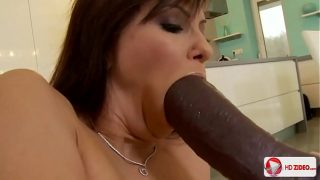Her First Big Black Cock for Hard Anal Fucking