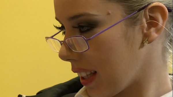 Sexy German Sexretary with Glasses Pleased her Boss on a Business Trip