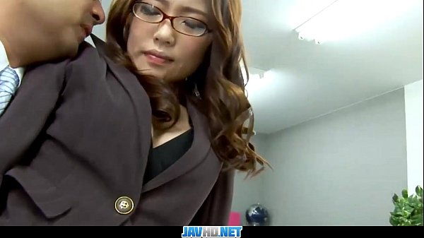 Shy Japanese Secretary gets Office Fuck from her Horny Boss