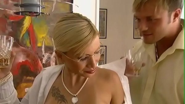 He fucks his Blonde German Hairy Pussy Secretary