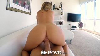 POVD – Blonde Alexis Adams has fun with beads in POV