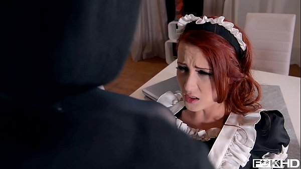 Redhead maid Isabella Lui catches thief in the act before anal fuck